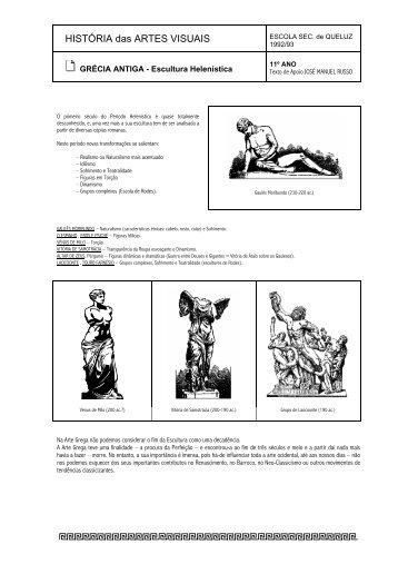Escultura: helenístico - Home Page de José Manuel Russo