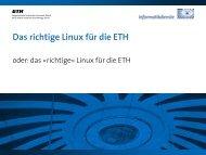 Bericht Fokussitzung Linux - ITEK