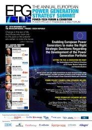 EPG 2011 - The European Power Generation Strategy Summit