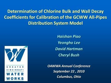 Wall Decay Coefficients - Ohiowater.org