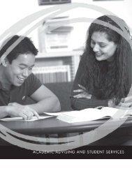 UC Davis 2012-2014 General Catalog   Academic Advising