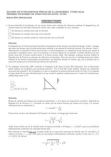 examen de fundamentos físicos de la ingeniería. curso 02/03 ...