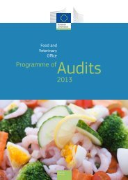 Programme of Audits 2013 - European Commission - Europa
