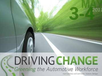 View presentation - Driving Change: Greening the Automotive ...