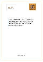 badanie ruchu turystycznego w województwie małopolskim w 2012 ...