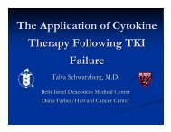 The Application of Cytokine Therapy Following TKI Failure