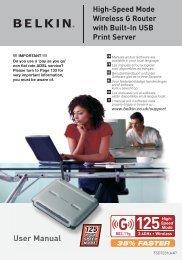 User Manual High-Speed Mode  Wireless G Router ... - CCS (Leeds)