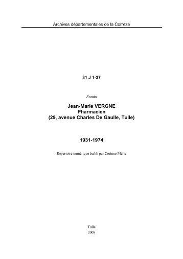 Fonds Jean-Marie Vergne.pdf - Archives départementales Corrèze