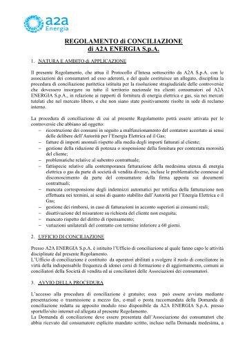 REGOLAMENTO DI CONCILIAZIONE ... - Lega consumatori