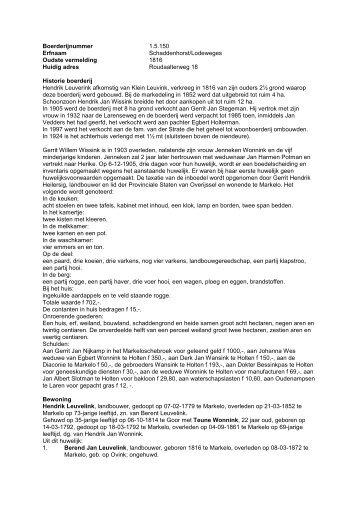 1.5.150 Boerderij Schaddenhorst / Lodeweges ... - De Hofmarken