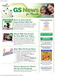 GSNews for Parents August 21 - Girl Scouts of Greater Atlanta