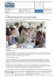 Tribune de Genève, 29.08.2012 - Le Livre sur les quais