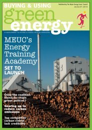 Buying and Using Green Energy - MEUC