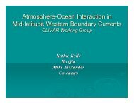 Western Boundary Current WB Science Report - US CLIVAR