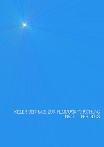 Kieler Beiträge zur Filmmusikforschung, 1, 2008 / 3