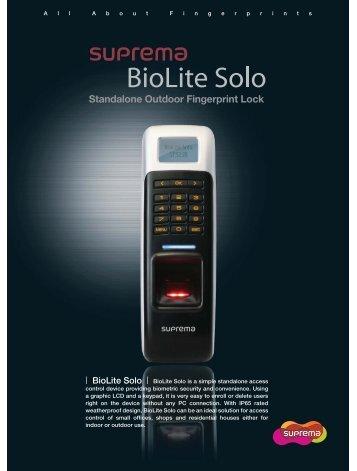BioLite Solo - Suprema