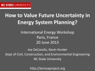 How Much Should We Value Uncertainty in Energy System Planning?