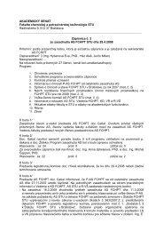 Zápisnica č.2 - Fakulta chemickej a potravinárskej technológie