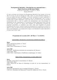 Introduction aux nanomatériaux - MINES ParisTech
