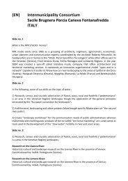 Sacile presentation text – english version - project welcome