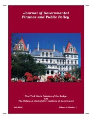 Journal of Governmental Finance and Public Policy - The Nelson A ...