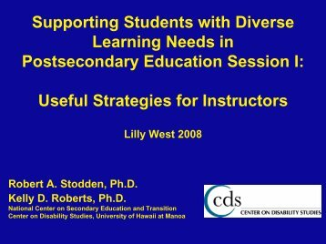 PDF Format - Students with Disabilities as Diverse Learners