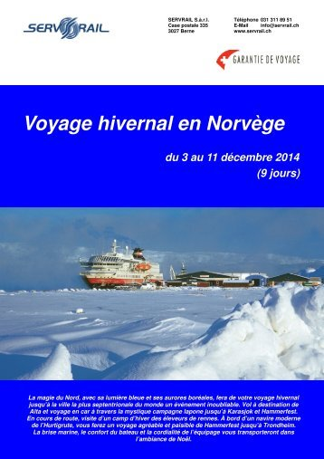 Voyage hivernal en Norvège - SERVRail
