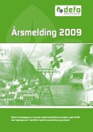 Årsmelding 2009 - Defo