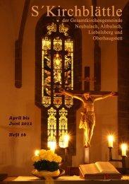 Das Kirchblättle - Evangelische Kirchengemeinde Neubulach