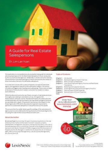 A Guide for Real Estate Salespersons - Redas.com