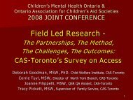 Implication - Children's Mental Health Ontario