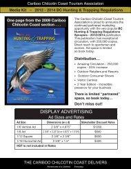 View Media Kit here - Cariboo Chilcotin Coast Tourism Association