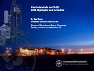 South Australia on PACE: 2008 highlights and activities - SA Explorers