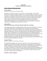Symposium Panel Presentation Titles and Abstracts Panel 1 ... - CMCE