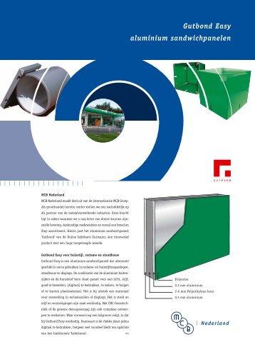 Gutbond Easy aluminium sandwichpanelen - MCB Nederland B.V.