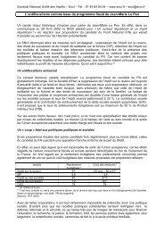 L'antifiscalisme comme base du programme fiscal de Jean-Marie Le ...