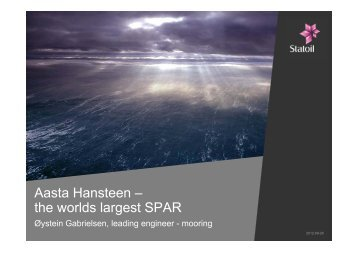 Aasta Hansteen – the worlds largest SPAR
