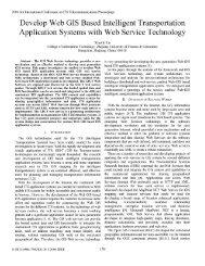 Develop Web GIS Based Intelligent Transportation - IEEE Xplore