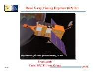 Rossi X-ray Timing Explorer (RXTE) - HEASARC - NASA