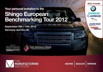 Shingo European Benchmarking Tour 2012 - The Shingo Prize