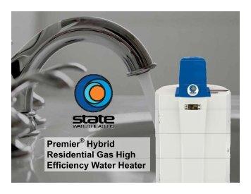 Premier Hybrid Residential Gas High Efficiency Water Heater