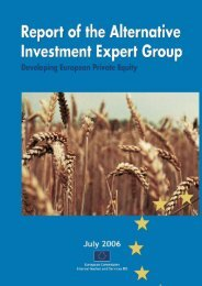 Sub group on Private Equity funds - European Commission - Europa