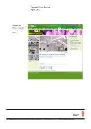 Current Press Review April 2011 - HWP Planungsgesellschaft mbh