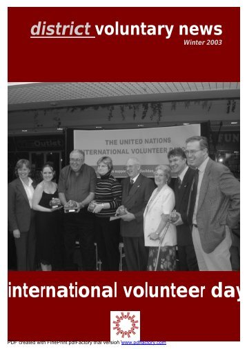 Xmas Newsletter 2003 - World Volunteer Web