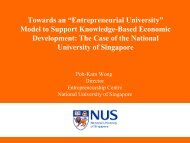 Towards an entrepreneurial university model to support knowledge ...