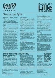 FEBRUAR 2005 MAGAZINET Stemmer, der flytter ... - Hiv-Danmark