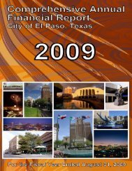 NOTES TO THE FINANCIAL STATEMENTS Year ... - City of El Paso