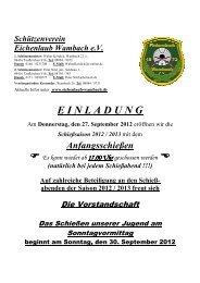 Donnerstag, den 27. September 2012 - Schützenverein Eichenlaub ...