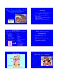 Caring For Neonatal Skin - Healthcare Professionals