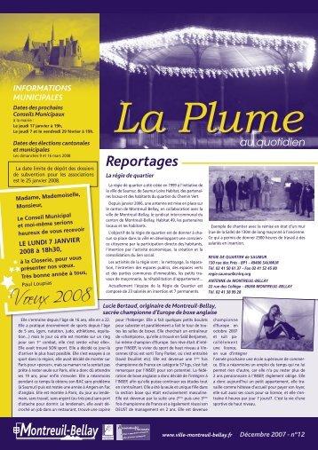 parution n°12 - décembre 2007 - Montreuil-Bellay
